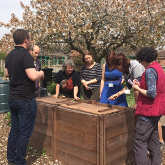 Composting workshop Ryton Organic Gardens